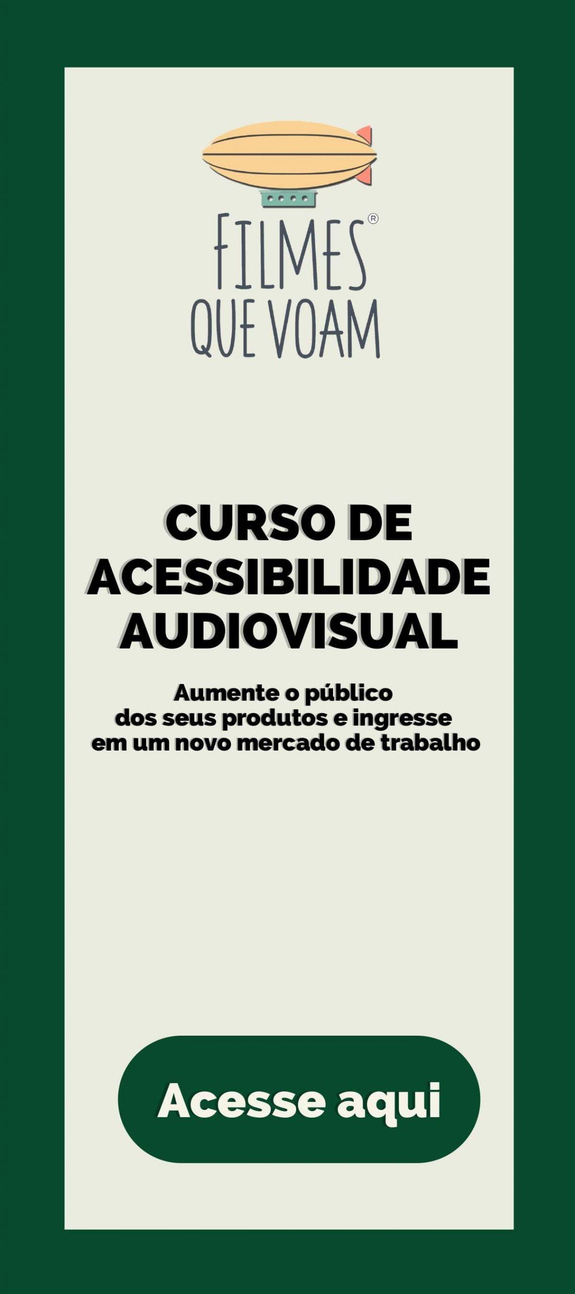 Banner do Curso de Acessibilidade Audiovisual